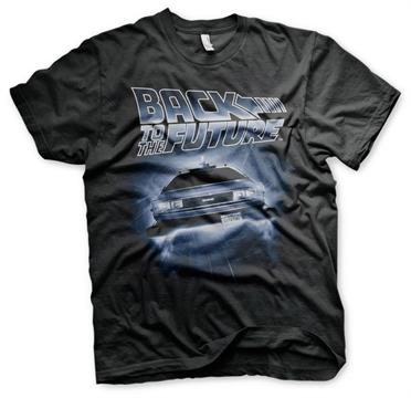 BACK TO THE FUTURE - Flying Delorean - T-Shirt (L)_1