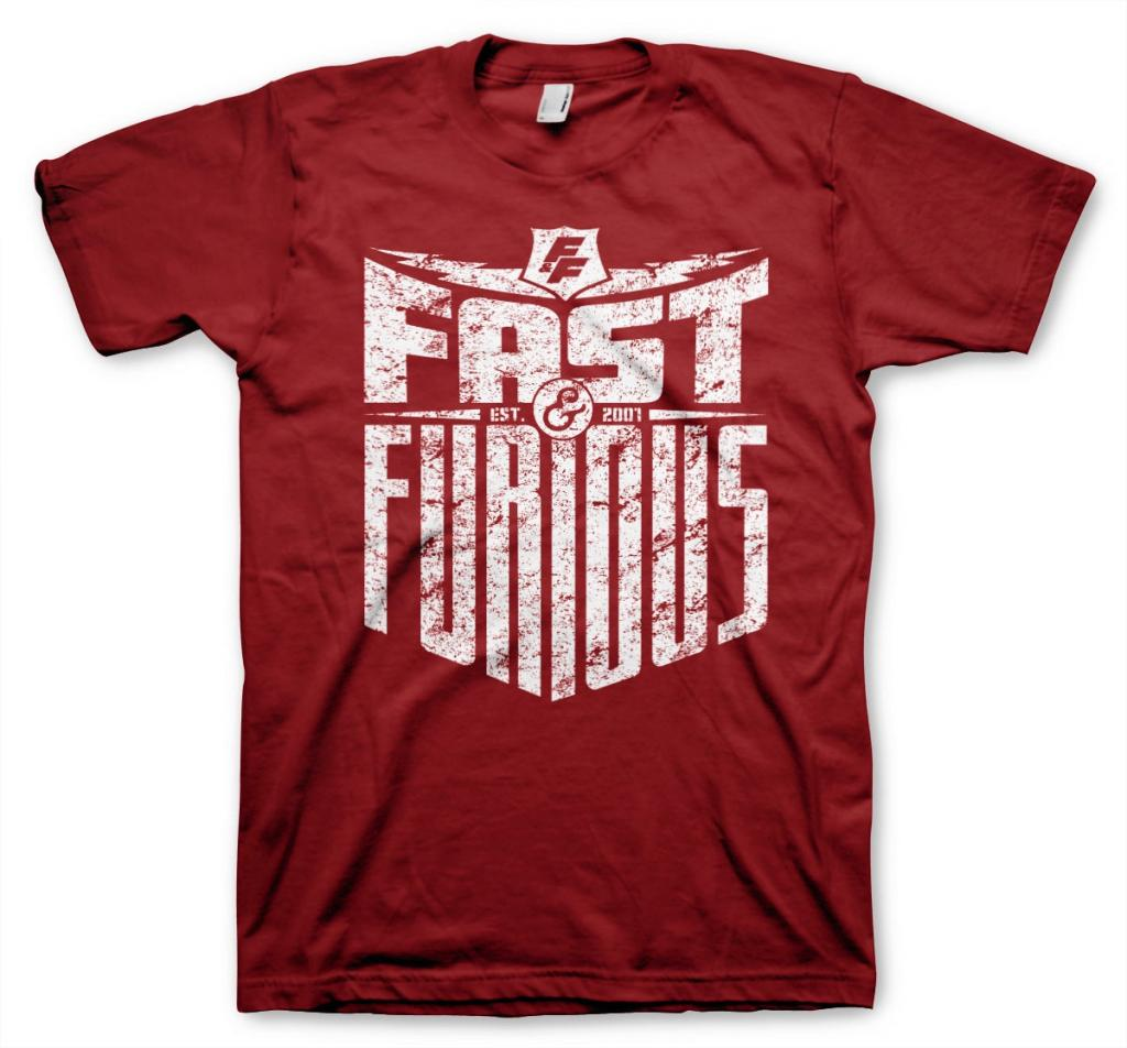 FAST AND FURIOUS - T-Shirt Est 2007 - Tango Red (L)