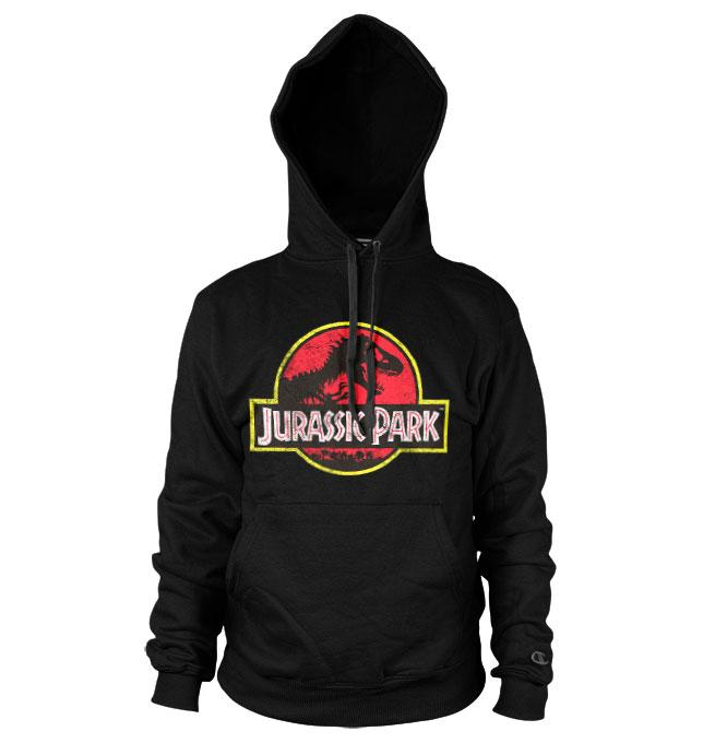 JURASSIC PARK - Distressed Logo Hoodies (XL)
