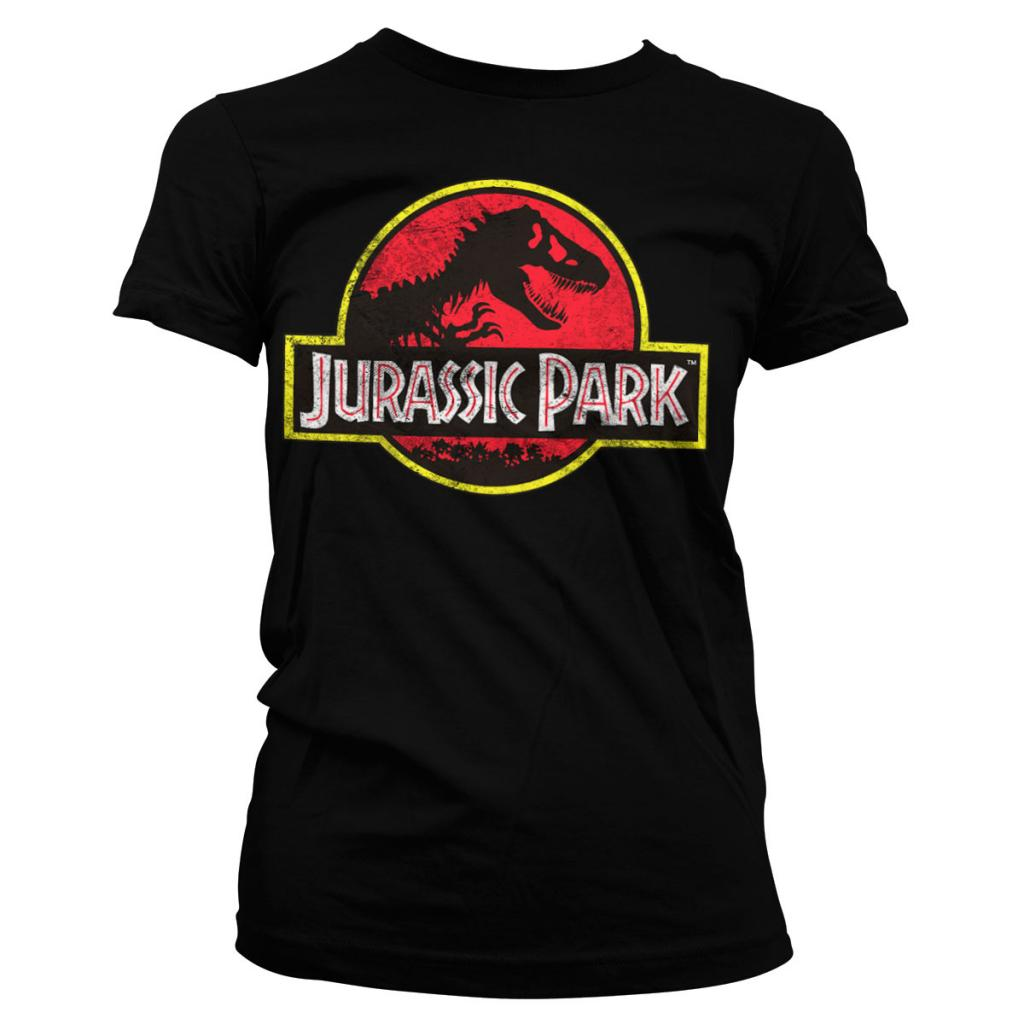 JURASSIC PARK - T-Shirt Logo Distressed GIRL (S)