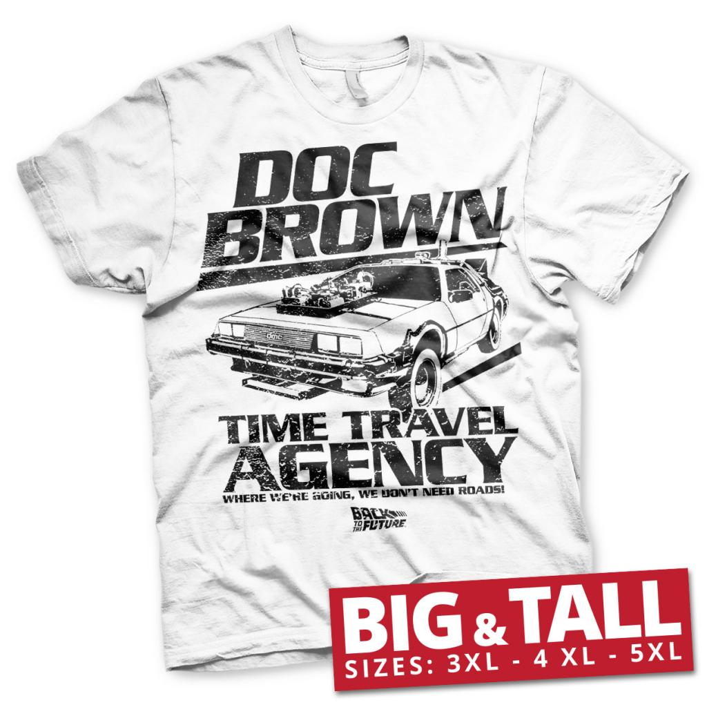 BACK TO THE FUTURE - T-Shirt Big & Tall - Doc Brown Time Agency (5XL)_1