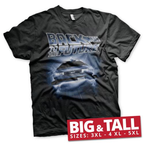 RETOUR VERS LE FUTUR - T-Shirt Big & Tall - Flying Delorean (3XL)