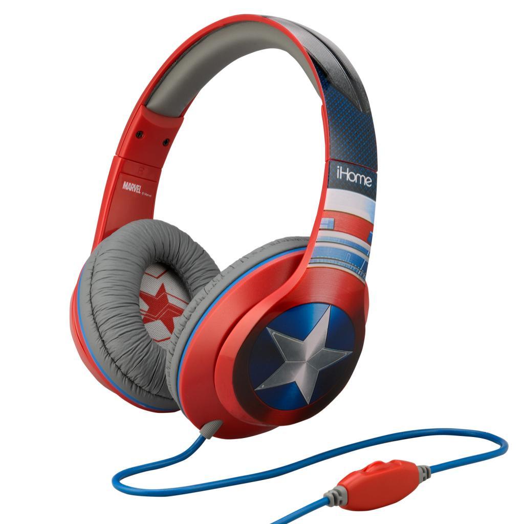 MARVEL - Cap. America Over The Ear Headphones Microphone 'iHome'