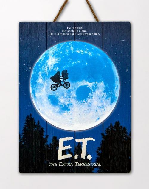 E.T. - Art - Poster WoodArts 3D en bois '30x40cm'