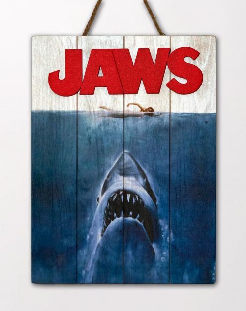 JAWS - Art - Poster WoodArts 3D en bois '30x40cm'