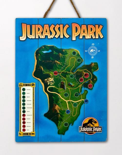 JURASSIC PARK - Map - Poster WoodArts 3D en bois '30x40cm'