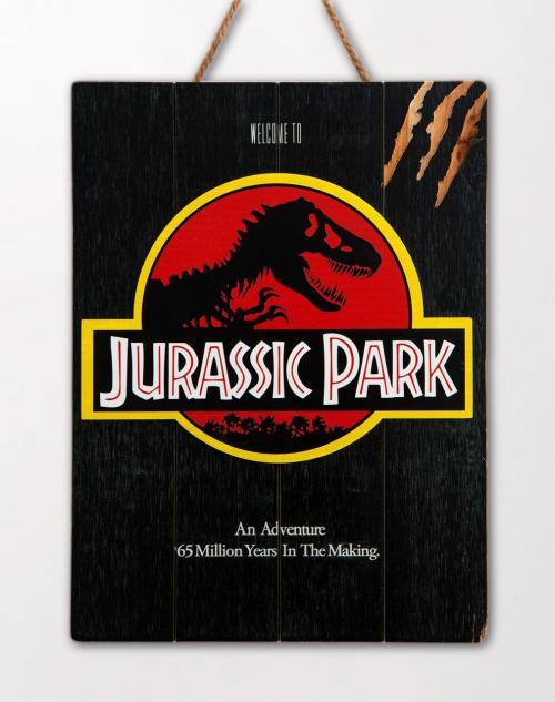JURASSIC PARK - 1993 - Poster WoodArts 3D en bois '30x40cm'