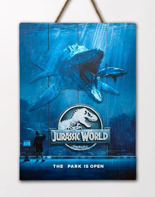 JURASSIC WORLD - Mossa - Poster WoodArts 3D en bois '30x40cm'