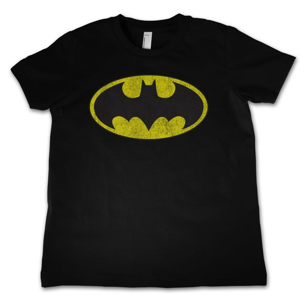 BATMAN - T-Shirt KIDS Distressed Logo (12 Years)