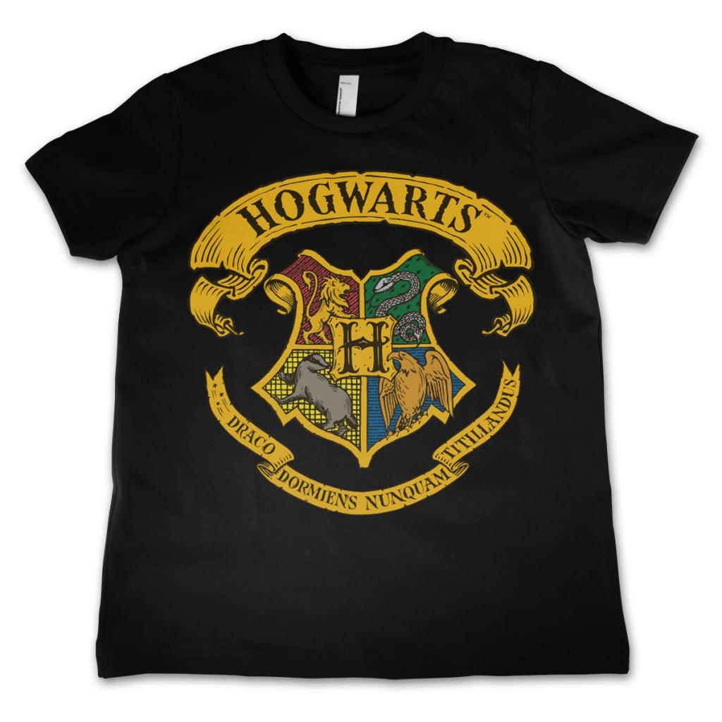HARRY POTTER - T-Shirt Enfant Hogwarts - Noir (8 Ans)