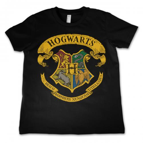HARRY POTTER - T-Shirt Enfant Hogwarts - Noir (4 Ans)