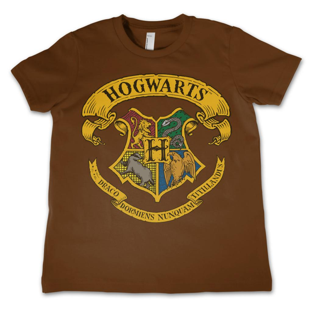 HARRY POTTER - T-Shirt Enfant Hogwarts - Brun (4 Ans)