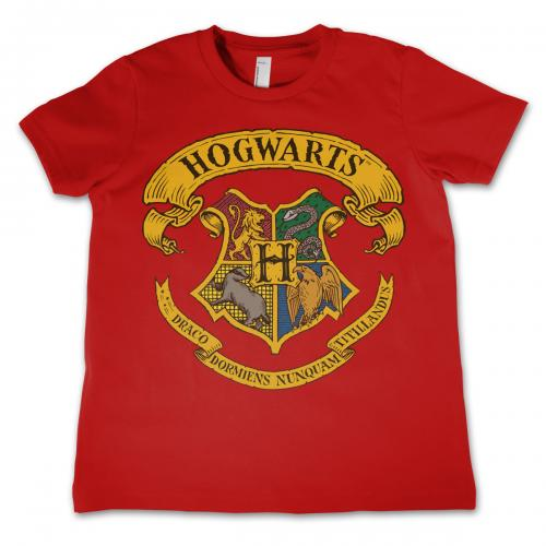 HARRY POTTER - T-Shirt Enfant Hogwarts - Rouge (4 Ans)
