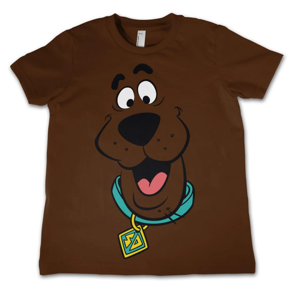 SCOOBY DOO - T-Shirt KIDS Face - Brown (10 Years)