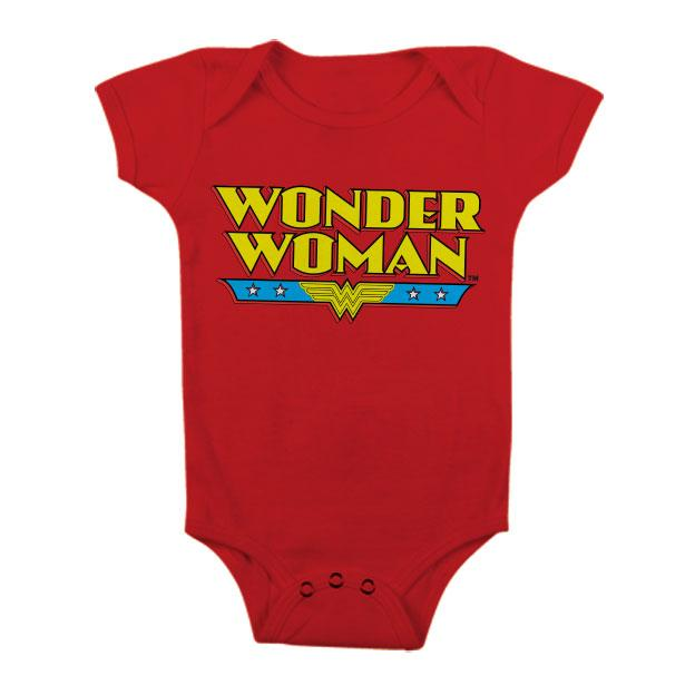 WONDER WOMAN - Baby Body Classic Logo - Red (12 Month)