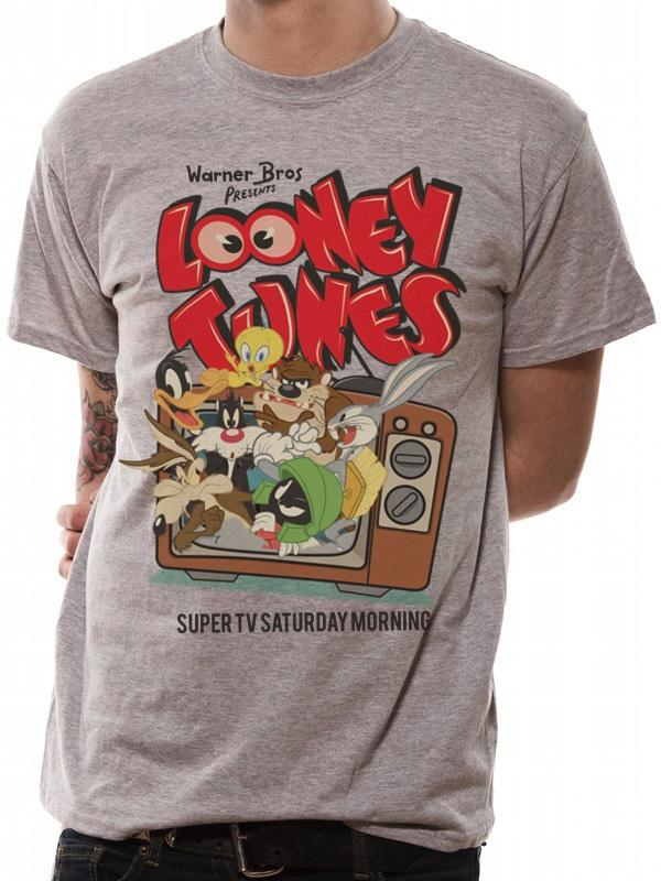 LOONEY TUNES - T-Shirt IN A TUBE- Retro TV (S)