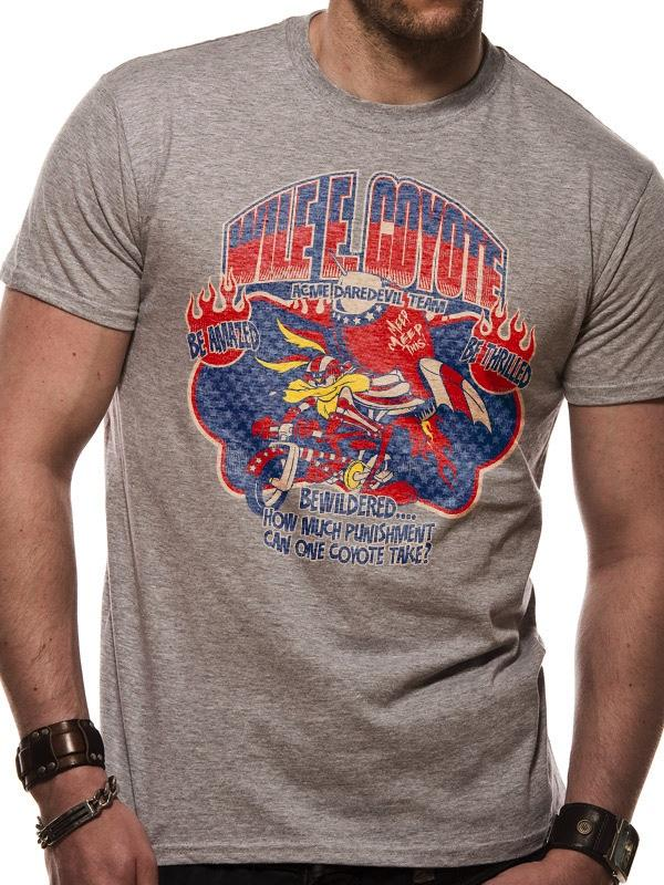 LOONEY TUNES - T-Shirt IN A TUBE- Wile E Coyote (S)