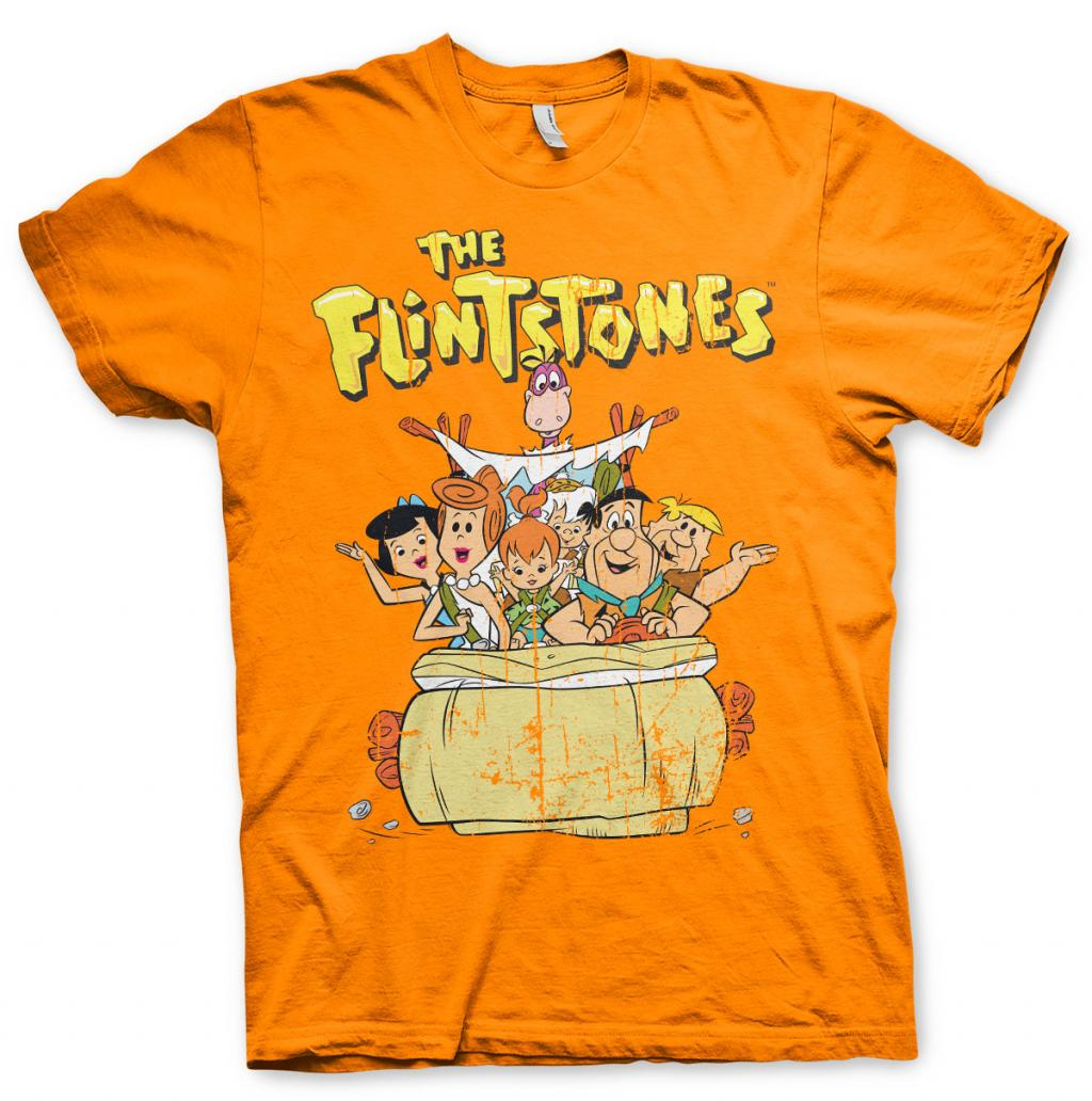THE FLINTSTONES - T-Shirt Flintstones Family - Orange (XXL)_1