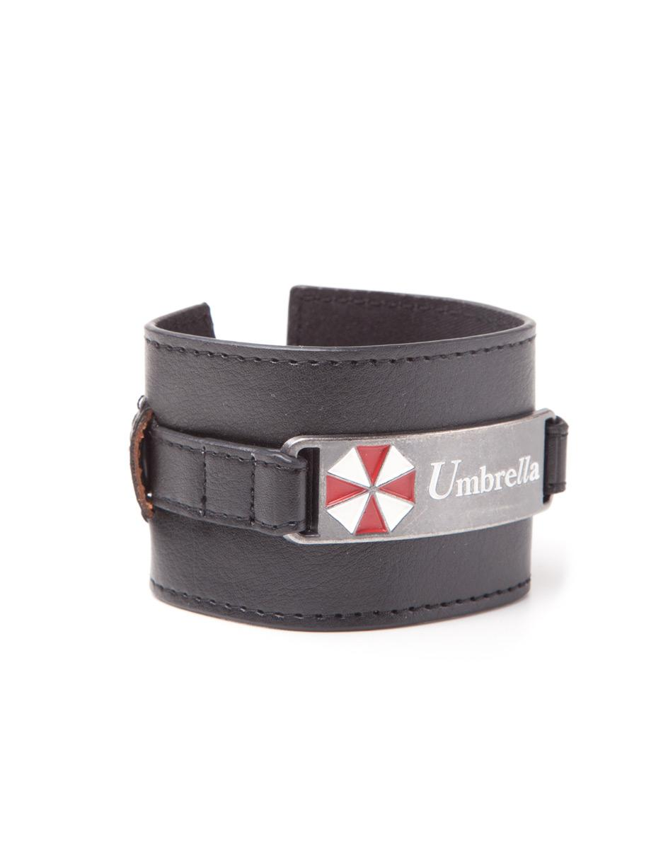 RESIDENT EVIL - Metal Plate Wristband with Umbrella Logo