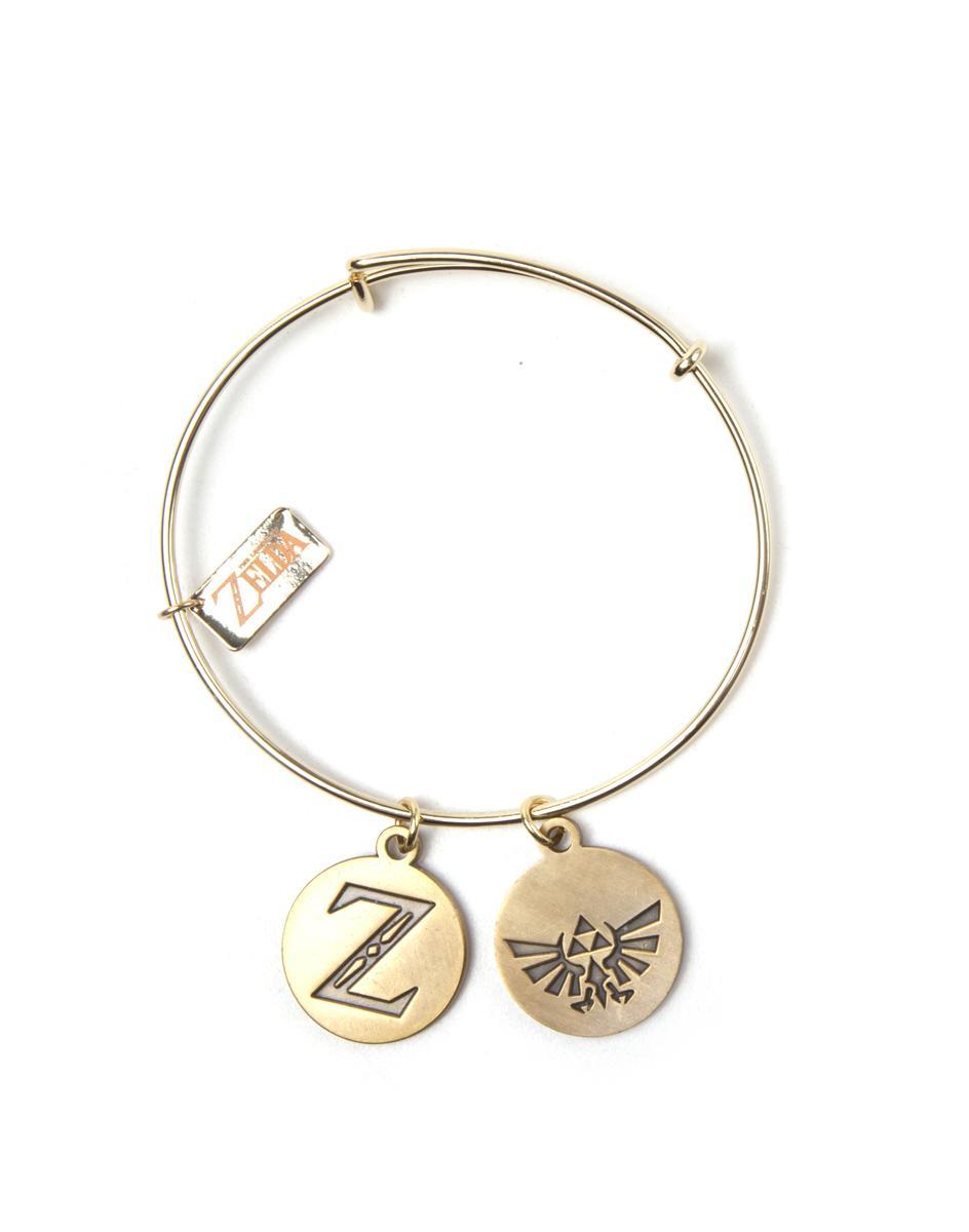 ZELDA - Bracelet with Z & Triforce Charms
