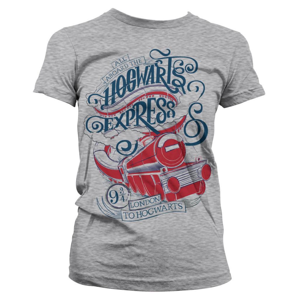 HARRY POTTER - T-Shirt All Aboard The Hogwarts Express - GIRL Grey (S)_1
