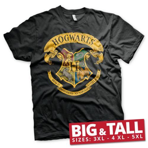 HARRY POTTER - T-Shirt Big & Tall - Hogwarts Crest (3XL)