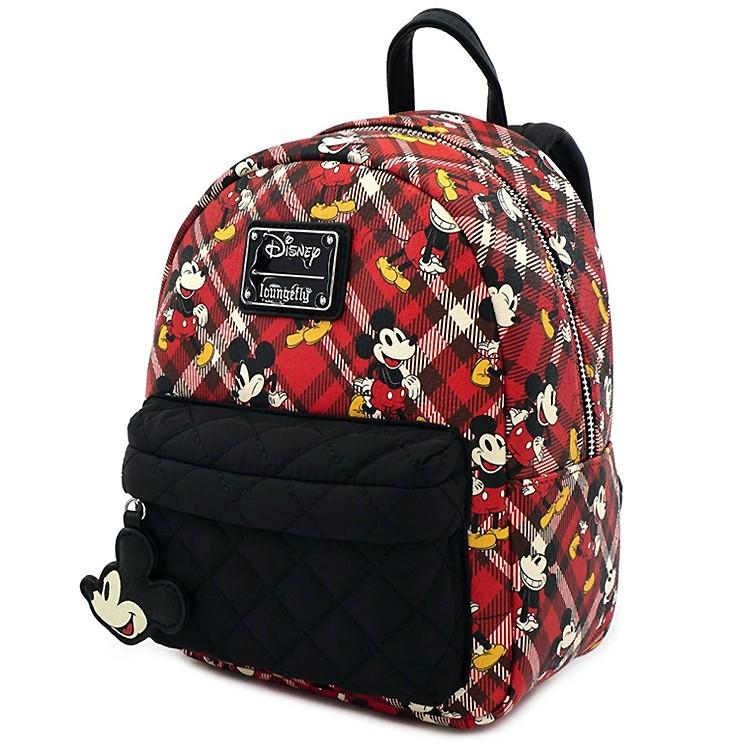 DISNEY - Mickey Mouse Twill Mini Backpack 'LoungeFly'