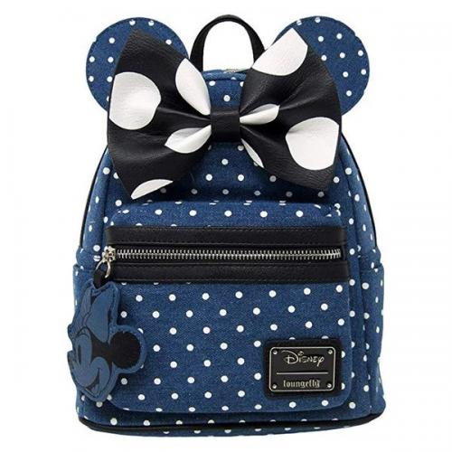 DISNEY - Minnie Mouse Denim Backpack 'LoungeFly'