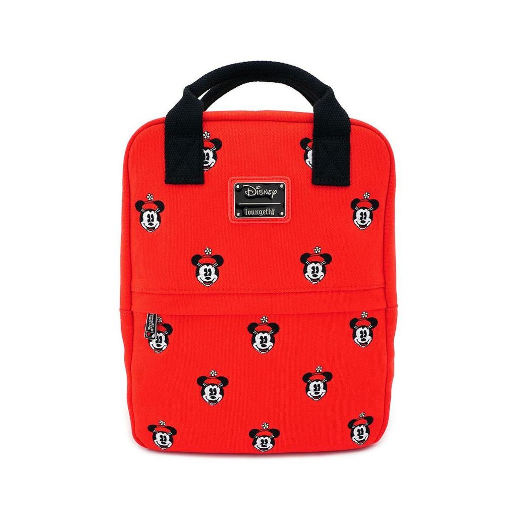DISNEY - Minnie Mouse Canvas Backpack 'LoungeFly'_1