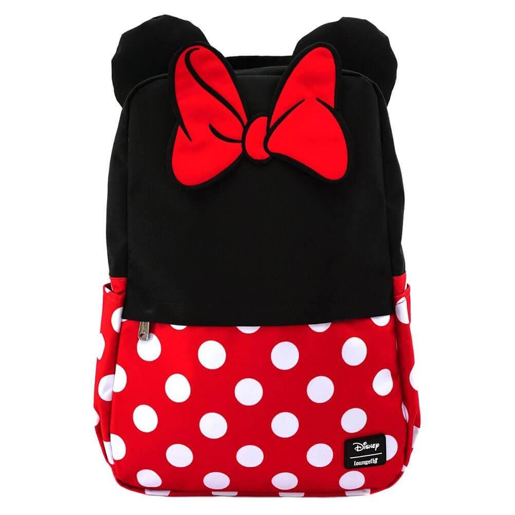 DISNEY - Minnie Mouse Cosplay Square Nylon Backpack 'LoungeFly'