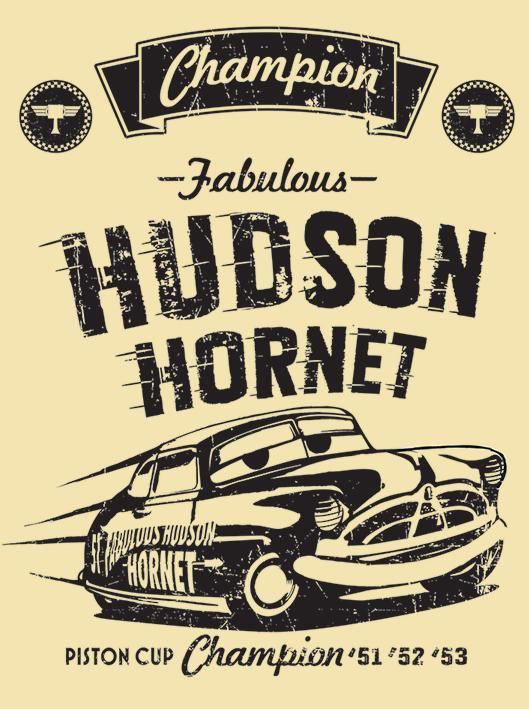 CARS - Canvas 60X80 '38mm' - Hudson Hornet