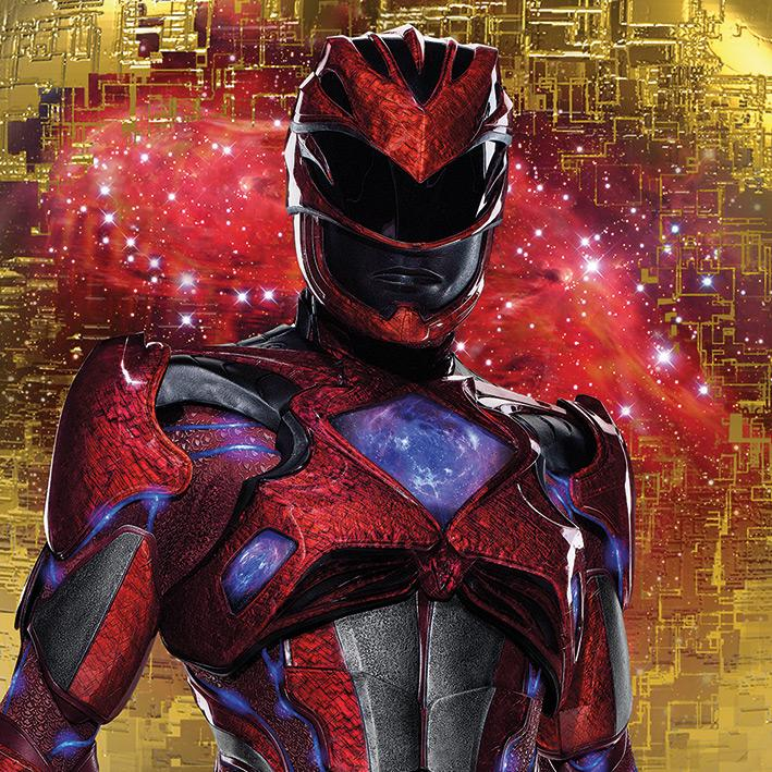 POWER RANGERS MOVIE - Canvas 40X40 '18mm' - Red Ranger Pose