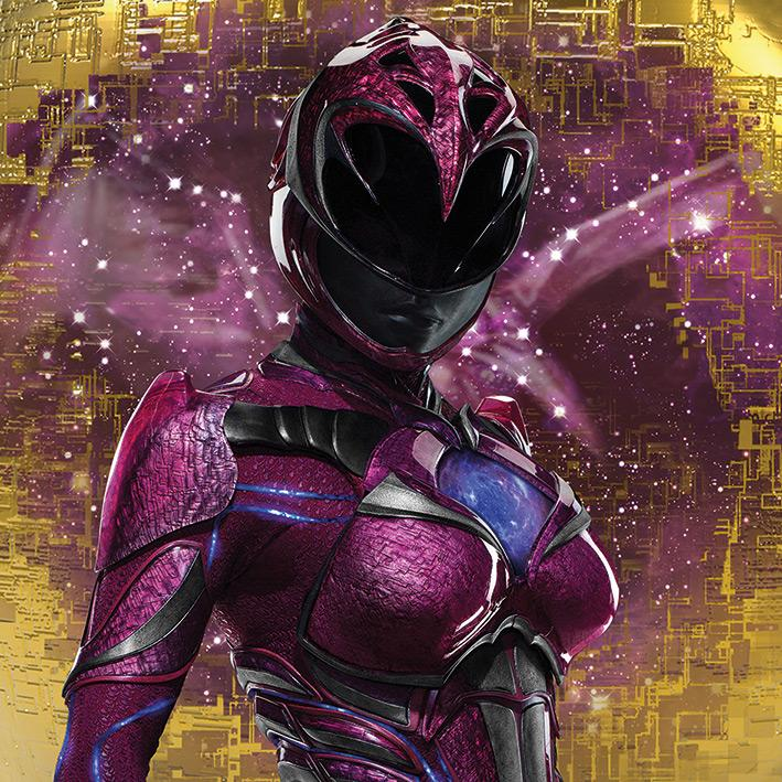 POWER RANGERS MOVIE - Canvas 40X40 '18mm' - Pink Ranger Pose