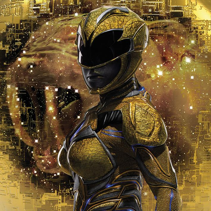 POWER RANGERS MOVIE - Canvas 40X40 '18mm' - Yellow Ranger Pose
