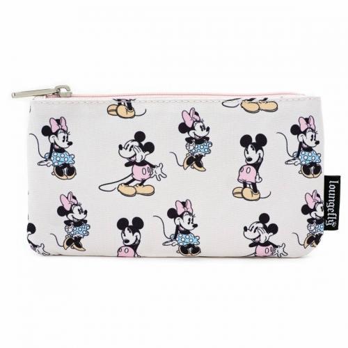 DISNEY - Pastel Minnie Mickey Nylon Pouch 'LoungeFly'_1