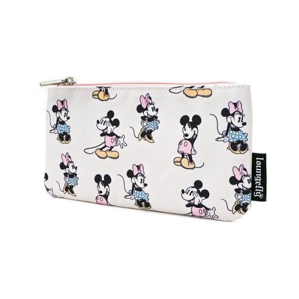 DISNEY - Pastel Minnie Mickey Nylon Pouch 'LoungeFly'_2