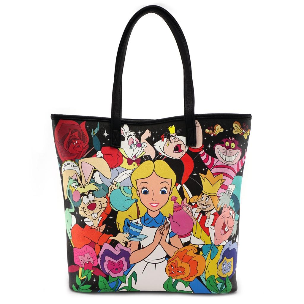 DISNEY - Alice Character Print Tote Bag 'LoungeFly'