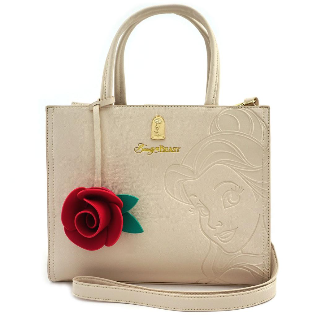 DISNEY - Belle Embrossed Tote Bag 'LoungeFly'