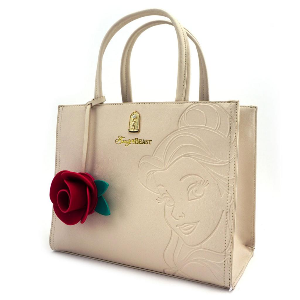 DISNEY - Belle Embrossed Tote Bag 'LoungeFly'_2