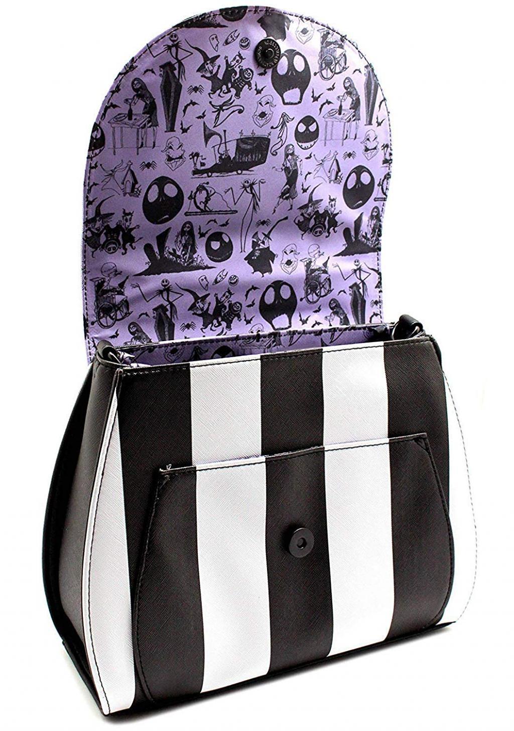 DISNEY - NBC Striped Saddle Xbody Bag 'LoungeFly'_4
