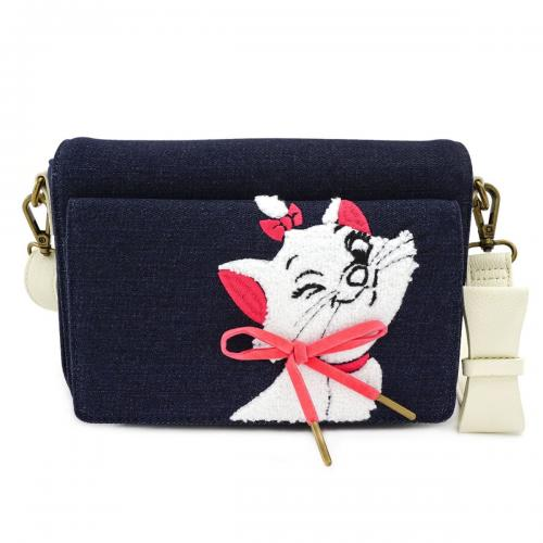 DISNEY - Sac bandoulière Marie Denim 'LoungeFly'