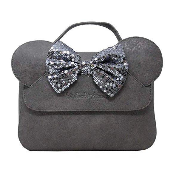 DISNEY - Minnie Mouse Sequin Grey Mini Backpack 'LoungeFly'