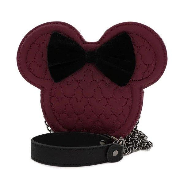 DISNEY - Mickey Mouse Velvet 3D Crossbody Bag 'LoungeFly'