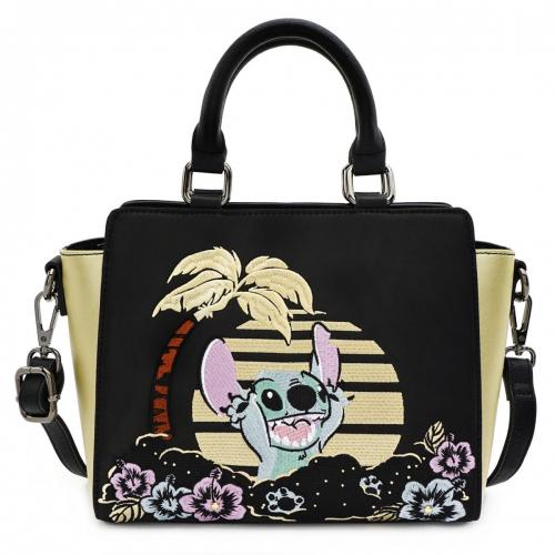 DISNEY - Sac bandoulière Lilo & Stitch Satin 'LoungeFly'