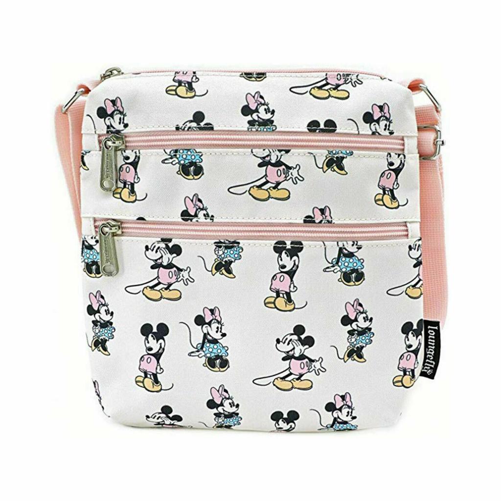 DISNEY - Pastel Minnie Mickey Nylon Passport 'LoungeFly'_1