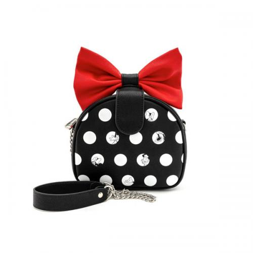 DISNEY - Minnie Mouse Red Bow - Sac bandoulière 'LoungeFly'