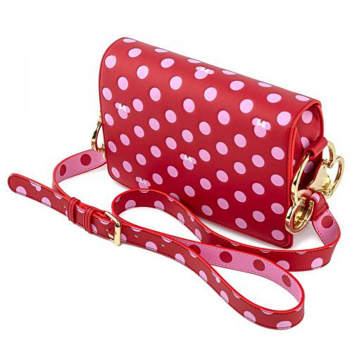 DISNEY - Minnie Mouse Pink Polka - Sac bandoulière Loungefly '24x18x5'