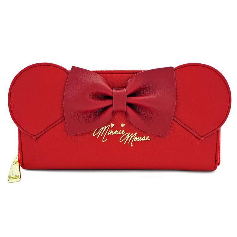 DISNEY - Minnie Ears Classic Zip Around Wallet 'LoungeFly'