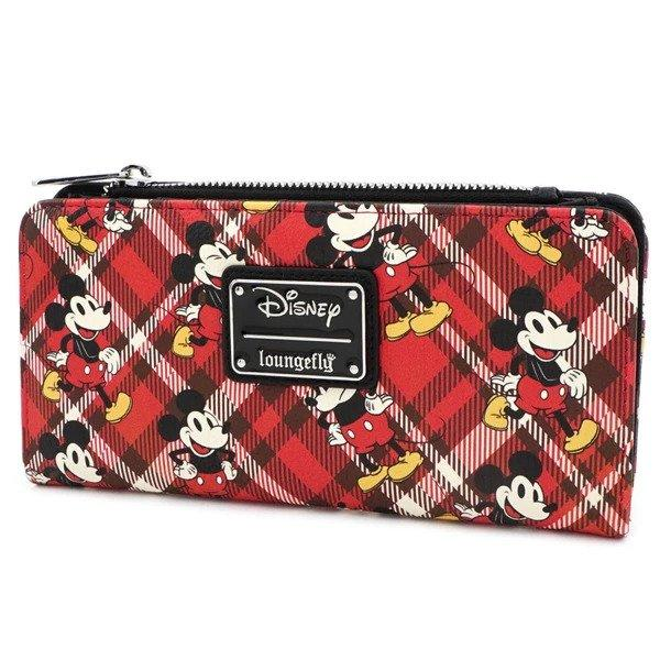 DISNEY - Mickey Mouse Twill Trifold Purse 'LoungeFly'
