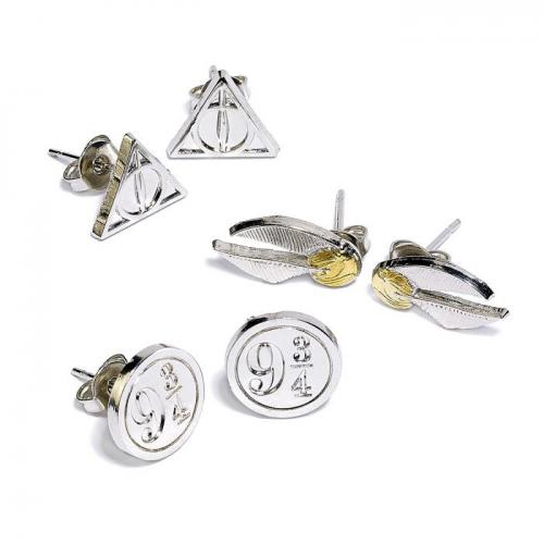 HARRY POTTER - Snitch / Deathly Hallows / 9 3/4 - Set de studs